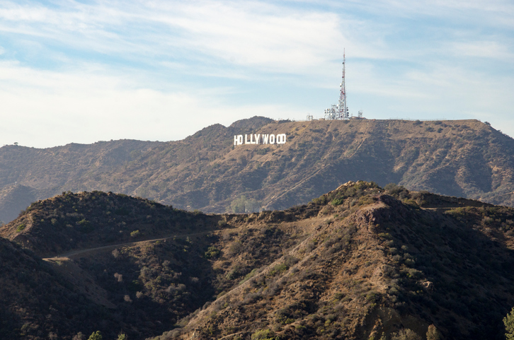 Famous Hollywood sign