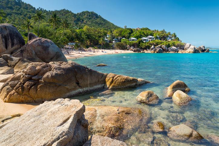 Silver beach, Crystal Beach beach view at Koh Samui Island Thailand