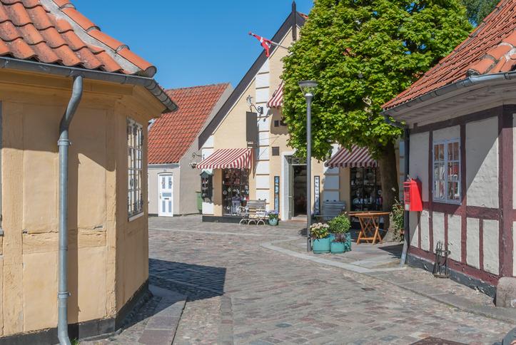 Odense Denmark outside HC Andersens Museum