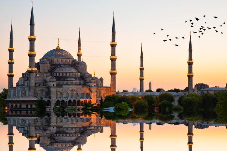 Blue mosque and hagia sophia ..