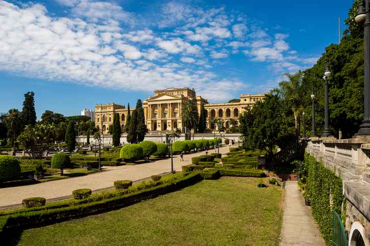 Sao Paulo, Brazil. April 25, 2016. The Museu Paulista of the University of São Paulo (commonly known in São Paulo and all Brazil as Museu do Ipiranga) is a Brazilian history museum