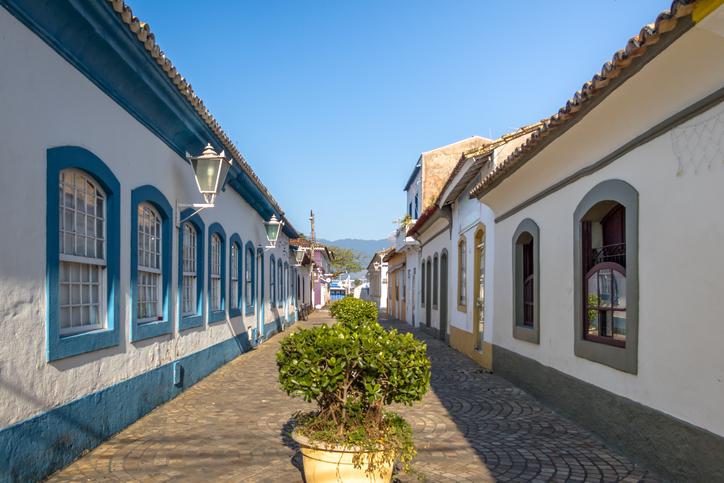 Streets of historic downtown - Sao Sebastiao, Sao Paulo, Brazil