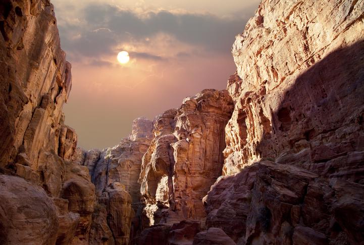 """""""Scenic view of canyon in Wadi Rum, Jordan"""""""
