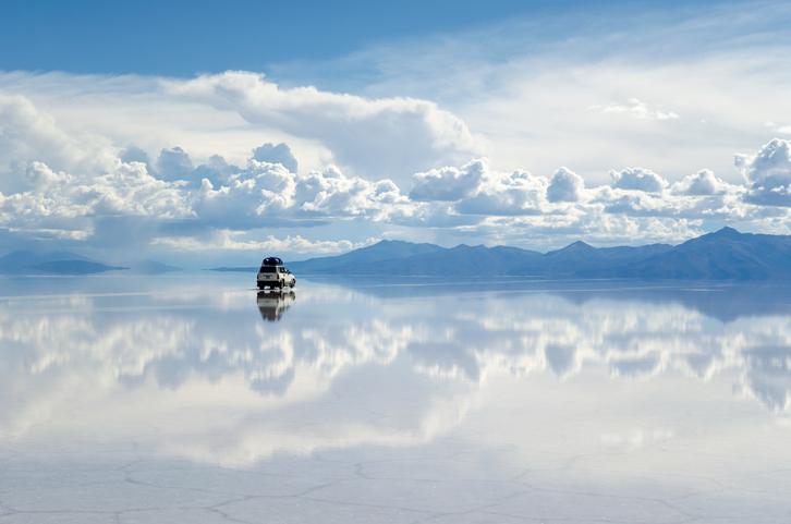 Between the earth and the heaven. Salar de Uyuni, Bolivia