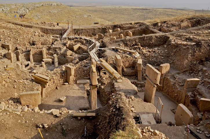 Gobeklitepe is a pre-historic site dating from roughly 12000 years ago, near Sanliurfa,.