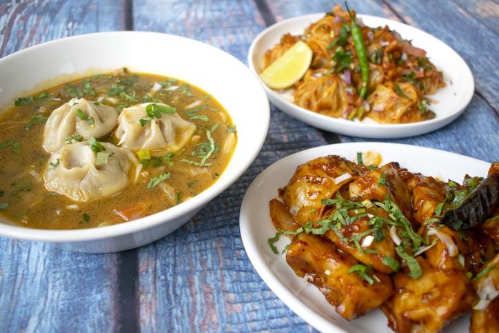 Nepalese food in restaurant