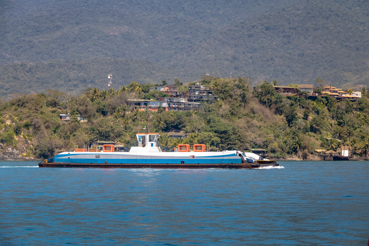 Ferry Boat Transport between Ilhabela and Sao Sebastiao - Ilhabela, Sao Paulo, Brazil