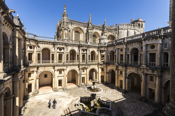 Convent of Christ. Tomar, Portugal. Renaissance Cloister of John III and Manueline style church. World Heritage Site since 1983