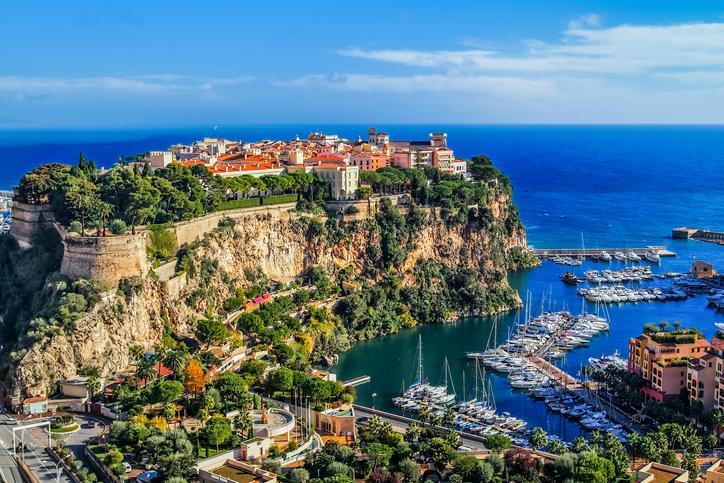 the rock the city of principaute of monaco and monte carlo France