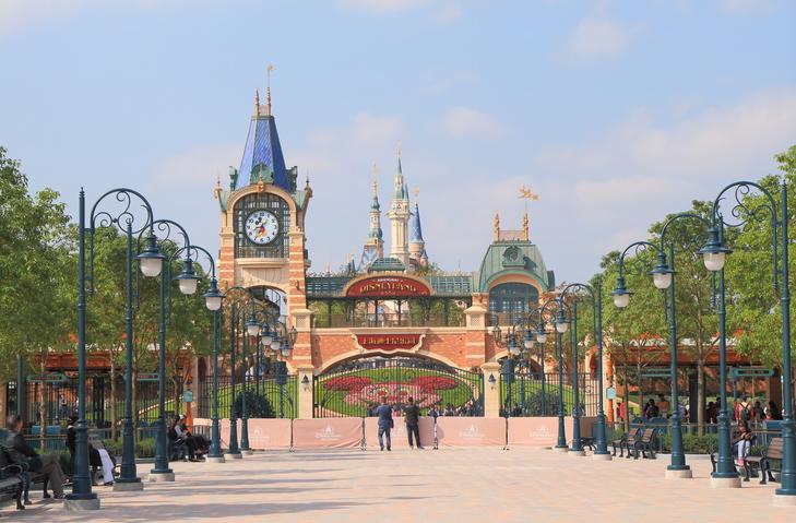Shanghai China - November 2, 2016: People visit Shanghai Disney Resort in Shanghai China.