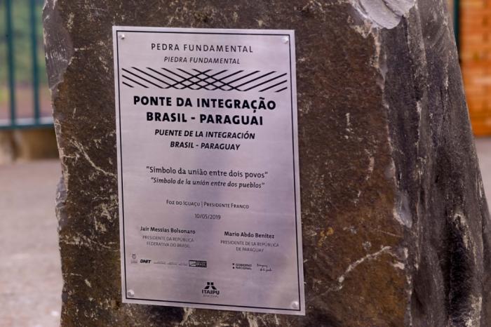 Pedra Fundamental Ponte da Integração – 2ª. ponte Brasil - Paraguai. Foto por Alexandre Marchetti / Itaipu Binacional