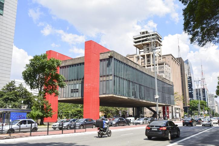 Sao Paulo, Brazil - Circa January 2019: MASP (Sao Paulo Museum of Art), landmark of Sao Paulo at Paulista Avenue