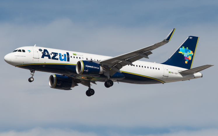 Airbus a320 Neo of Azul Linhas Aereas Brasileiras at Guarulhos International Airport, Sao Paulo - Brasil