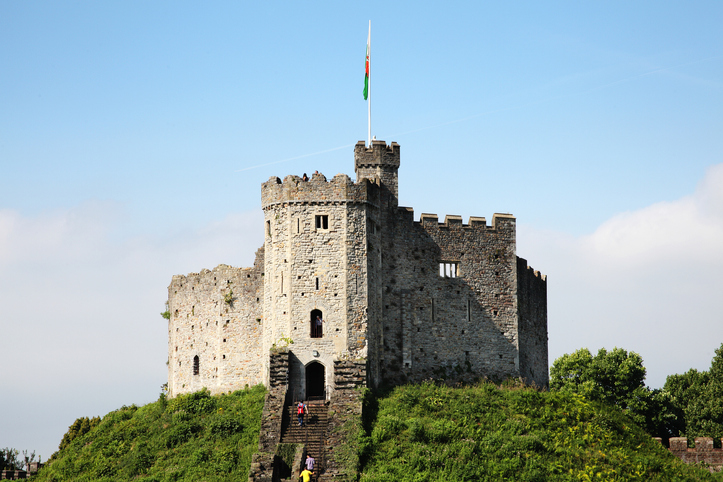 Cardiff, Wales, UK, September 14, 2016 : Cardiff Castle in Castle Street is a 12th century ruin which is one of the cities most popular visitor attractions