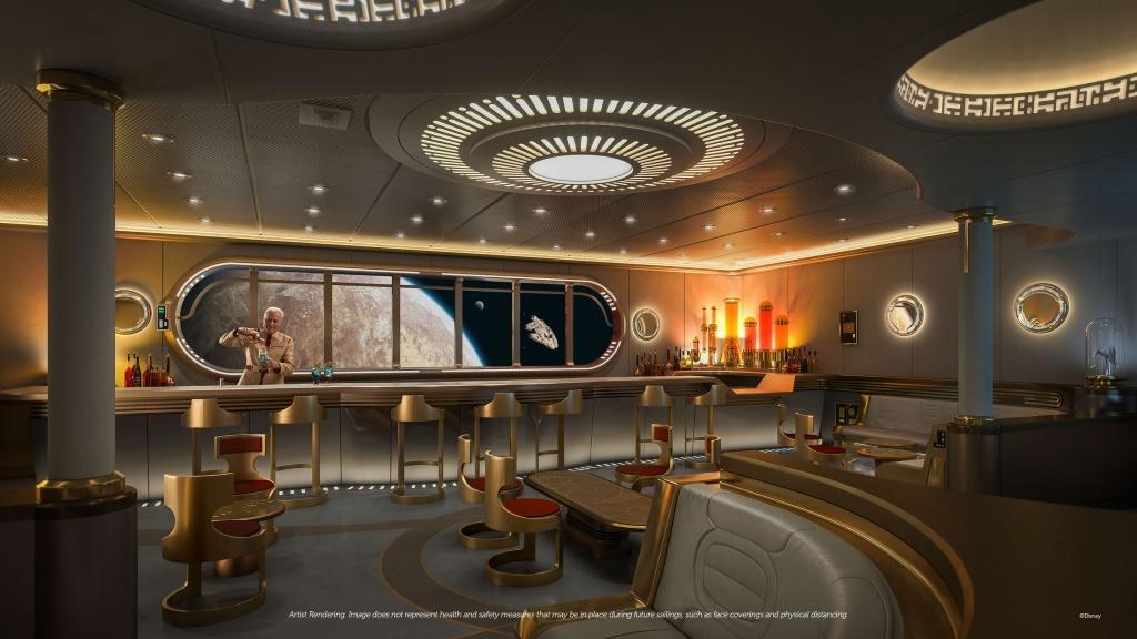 Star Wars Hyperspace Lounge. Foto por Disney / Divulgação