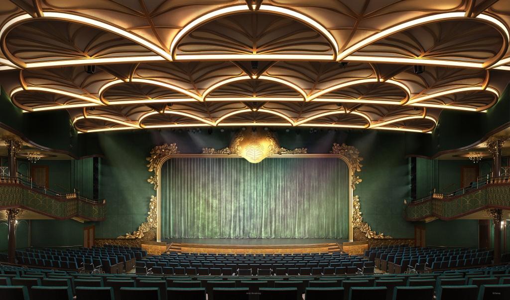 Walt Disney Theatre. Foto por Disney / Divulgação