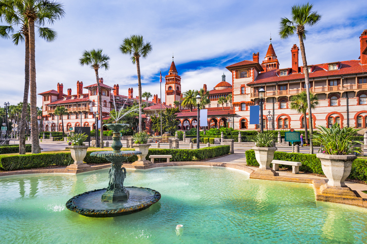 St. Augustine, Florida, USA town square.