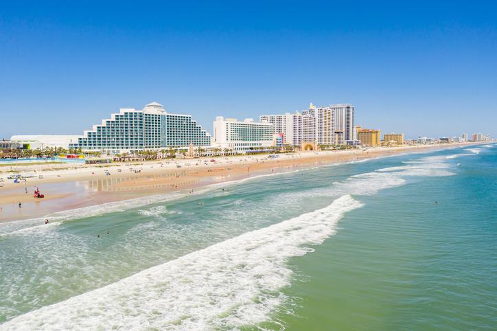 Daytona Beach reopening during Coronavirus Covid 19 pandemic social distancing